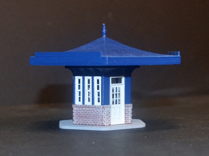 Gulf Hex Gas Station Windows 3d printed Gas station complete