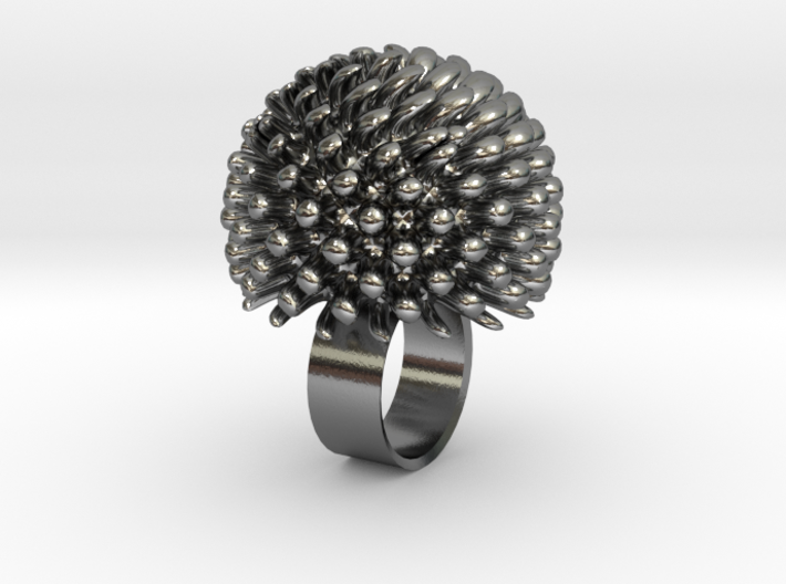 Coney Ring 3d printed