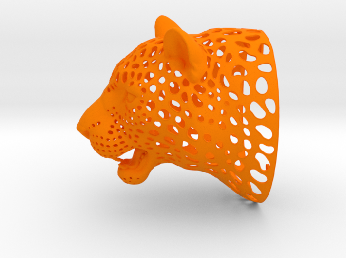 Leopard Head sculpture. WT-1. 15 cm 3d printed