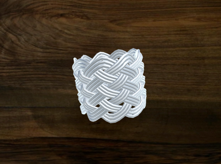Turk's Head Knot Ring 8 Part X 9 Bight - Size 7 3d printed