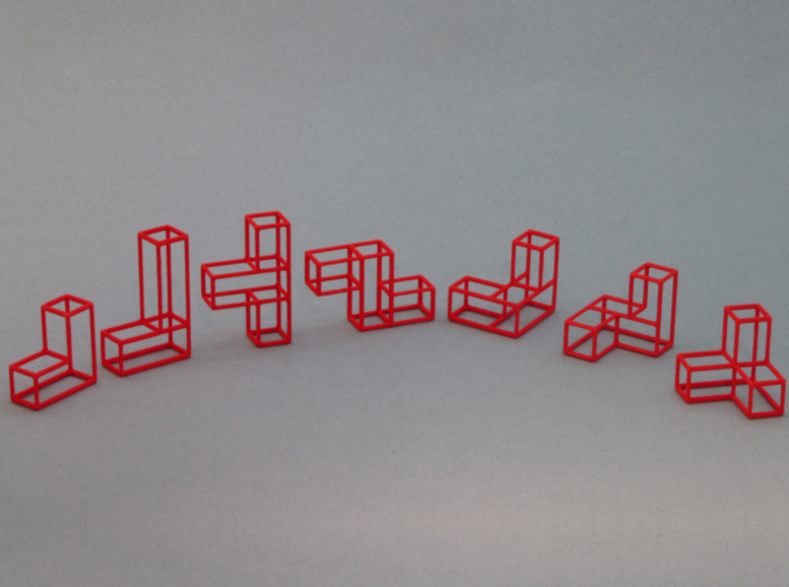 """""""SOMA's Revenge"""" - Inner Parts Only 3d printed Only the seven Inner parts - painted Red"""
