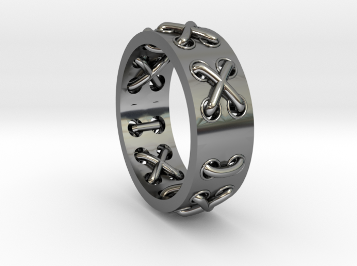 Lace-up Ring - Sz. 10 3d printed