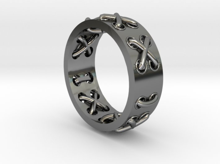 Lace-up Ring - Sz. 6 3d printed