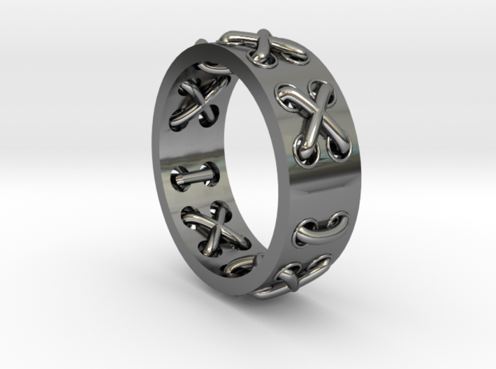 Lace-up Ring - Sz. 8 3d printed