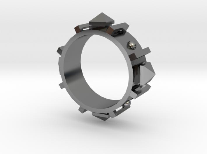 Edwardian Guard II Ring - Sz. 9 3d printed