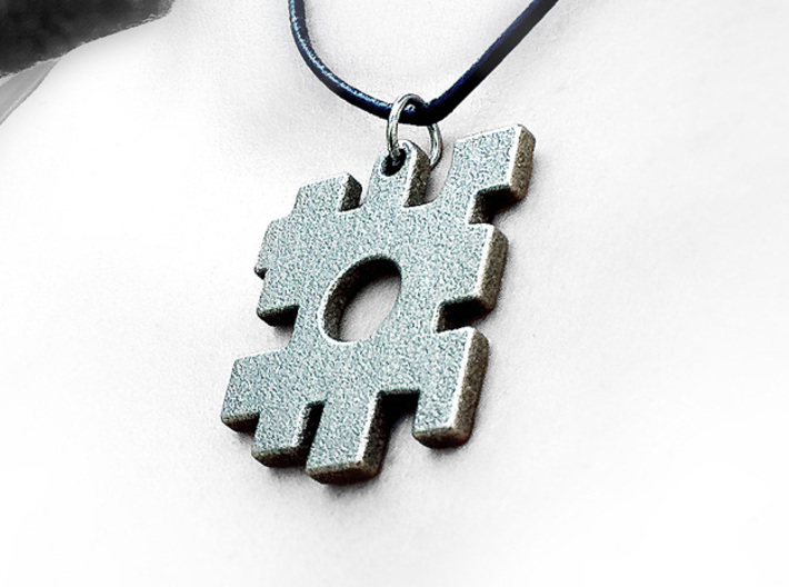 The lost puzzle piece pendant 3d printed Stainless Steel print