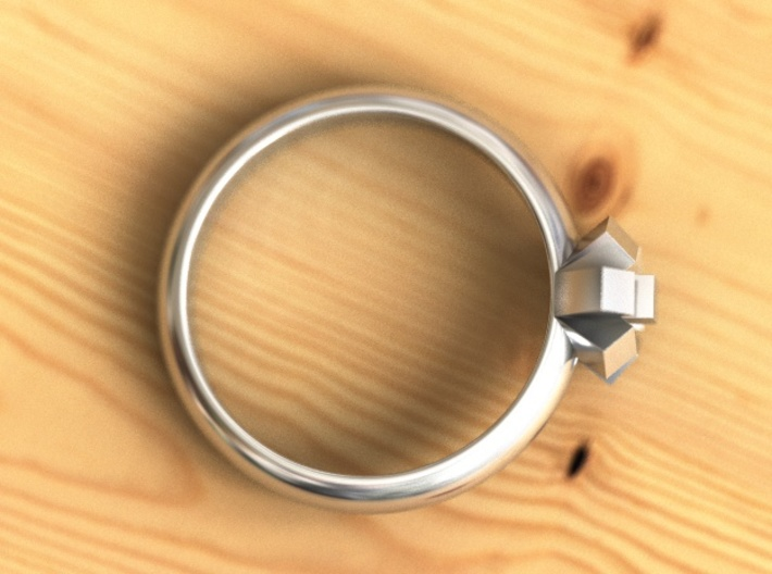 Cristall Ring 3d printed