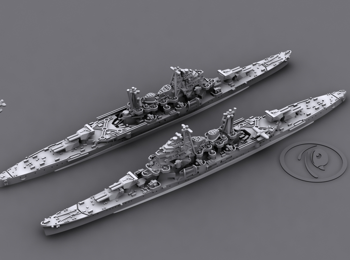 1/1800 IJN CA Maya [1944] 3d printed 3D software render, aircraft not included