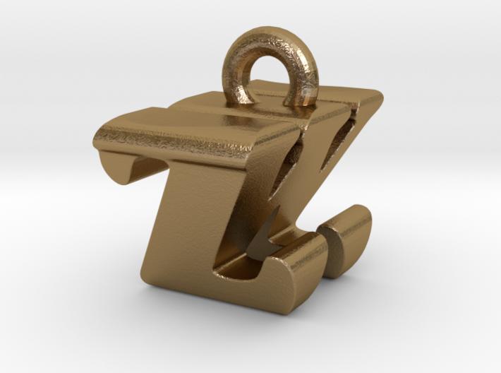 3D Monogram - ZWF1 3d printed