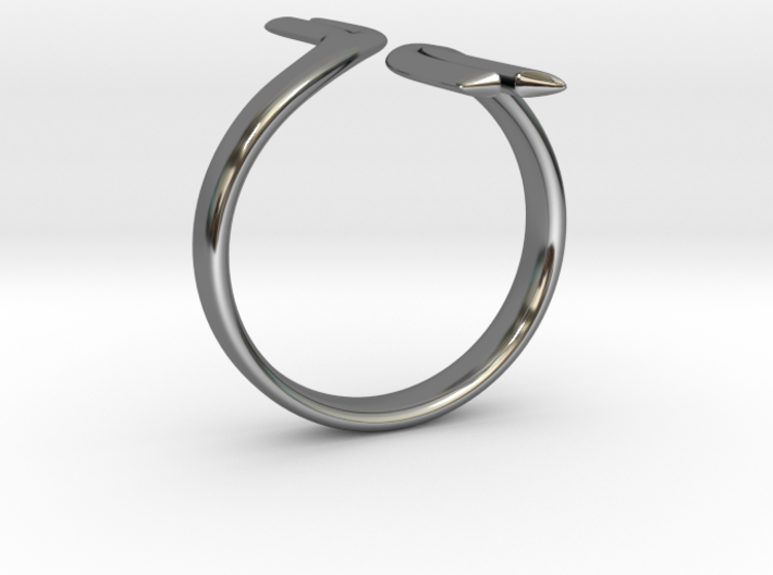 Split Elegance Ring 3d printed