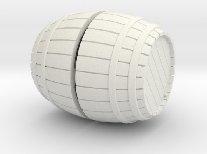 1/56th (28 mm) scale wooden barrel 3d printed
