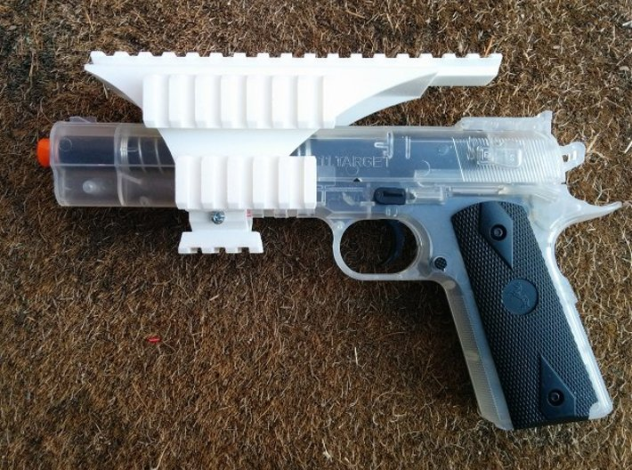 Pistol Hex-Rail 3d printed