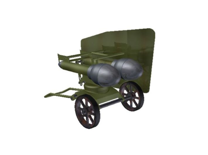 1/56th (28 mm) scale WW2 Hungarian 44M Buzoganyvet 3d printed Rendered image.