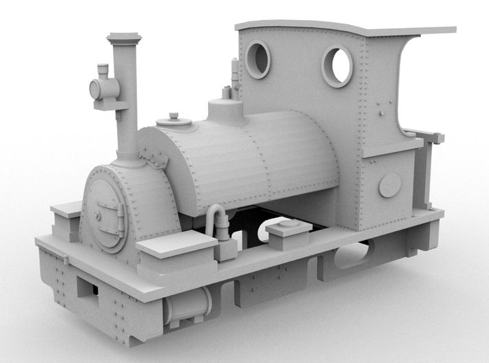 PBR Peckett(1:43 Scale) 3d printed