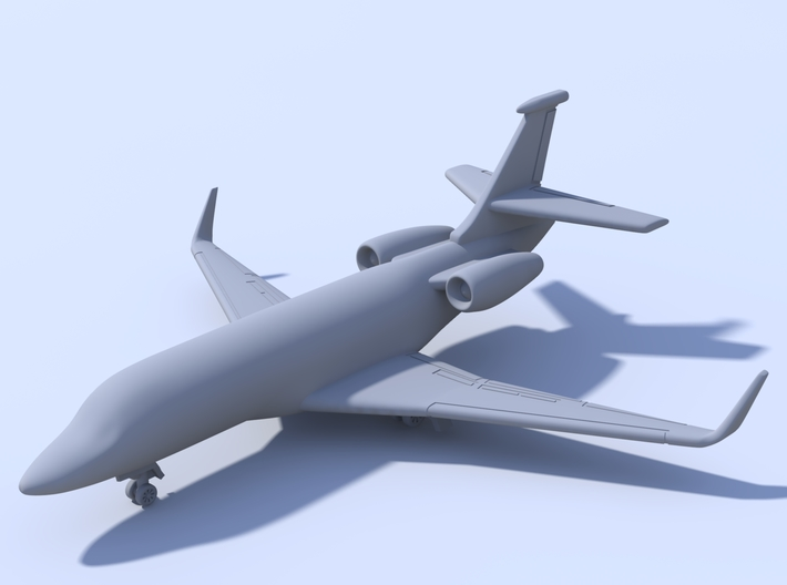 500 - Dassault Falcon 2000 - Solid 3d printed