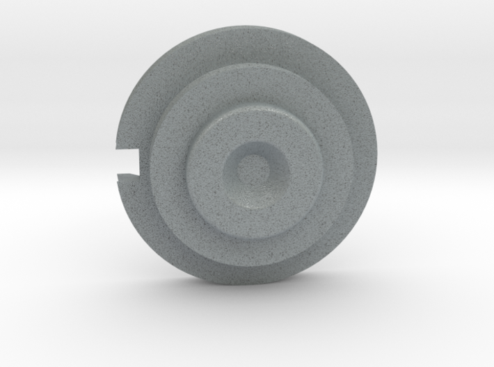 Officer Disk Notched 3d printed