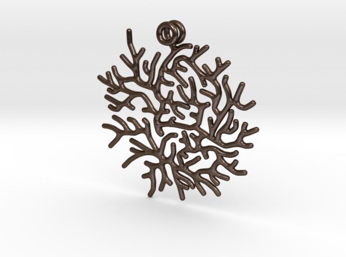 Delicate Little Coral Pendant 3d printed