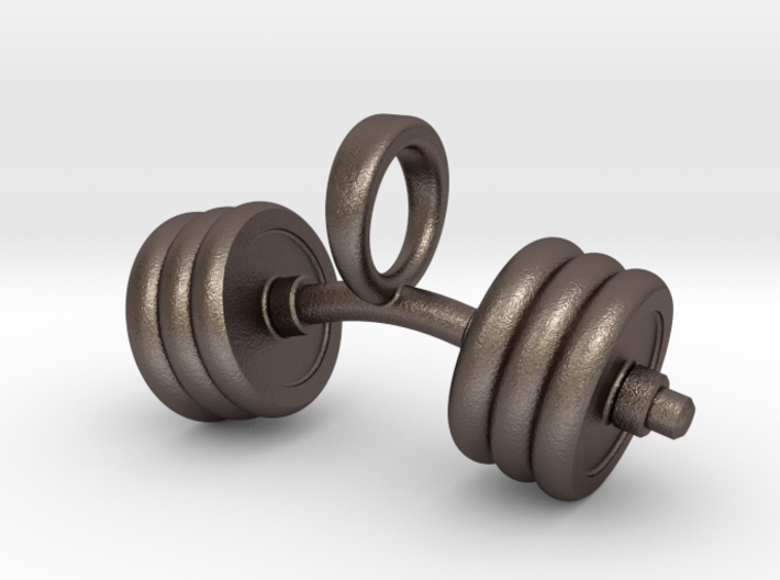 Pendant V8 - Dumbbell bent 3d printed
