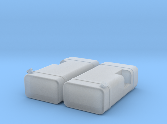 """1/87th HO Scale 48"""" square fuel tanks w step 3d printed"""