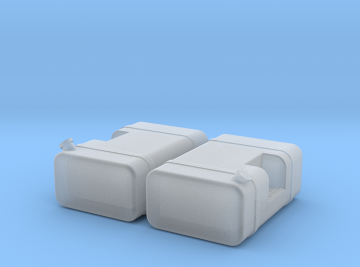 """1/64th Scale 36"""" Square fuel tanks w step 3d printed"""