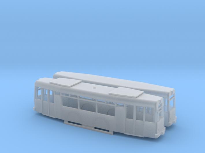T57+Beiwagen Offene Fenster 3d printed