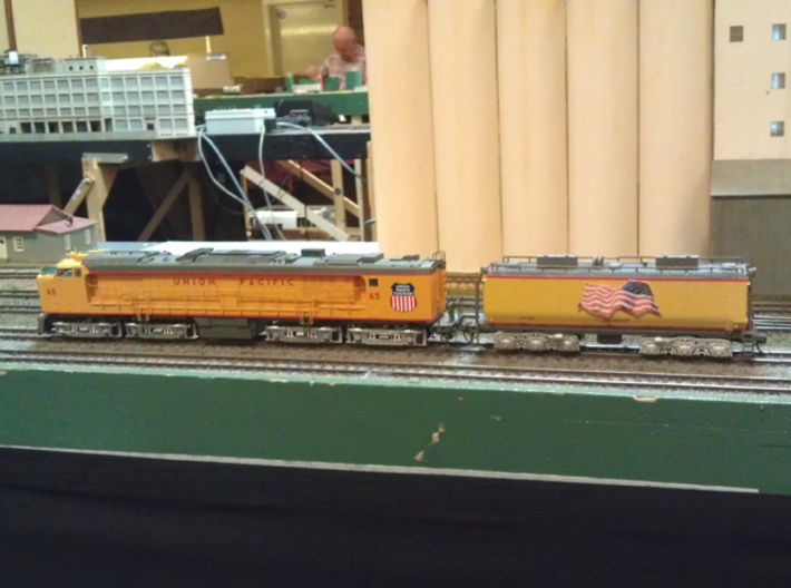 UP Water Tender HO Scale 1:87 Jim Adams  3d printed Tender with UP Turbine