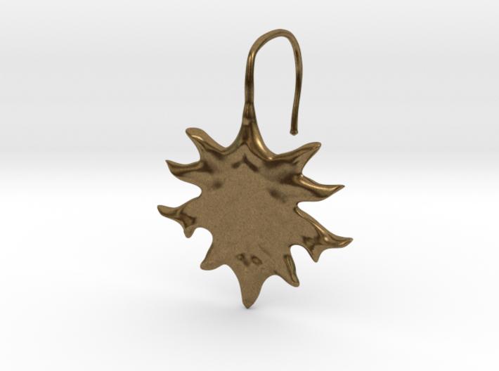 Oak Leaf Earring (~16 gauge wire thickness) 3d printed