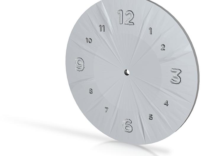 Blank clock 3d printed