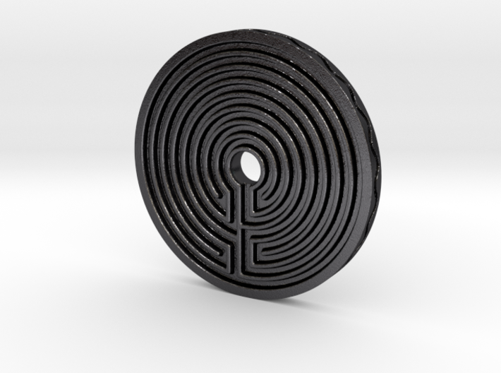 Labyrinth coin 3d printed