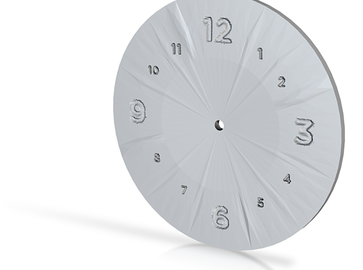 clock green 3d printed