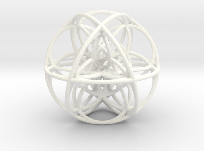 Cuboctahedral Flower of Life Sacred Geometry 3d printed