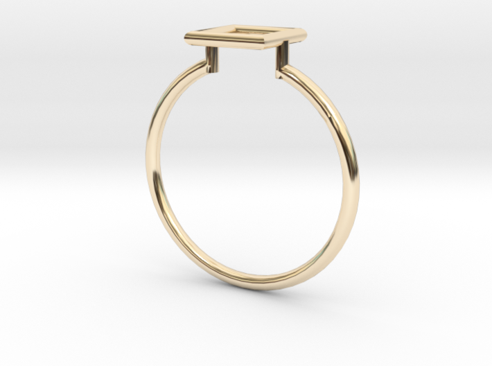Open Square Ring Sz. 9 3d printed