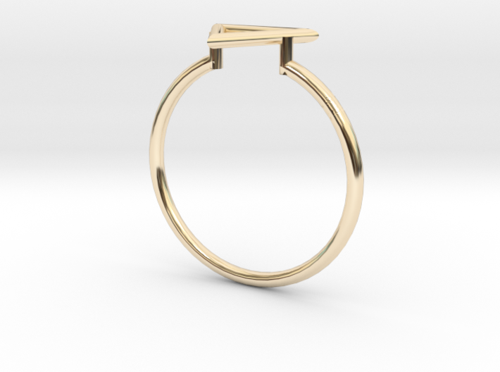 Open Triangle Ring Sz. 8 3d printed
