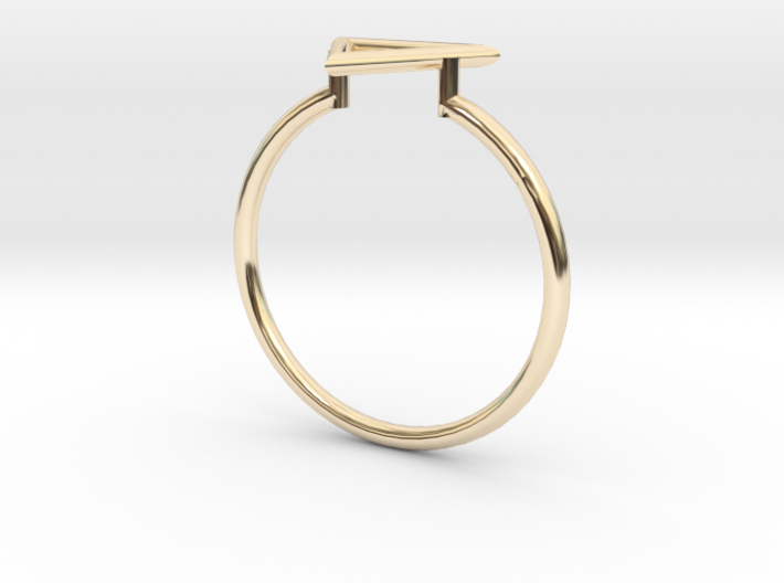 Open Triangle Ring Sz. 7 3d printed
