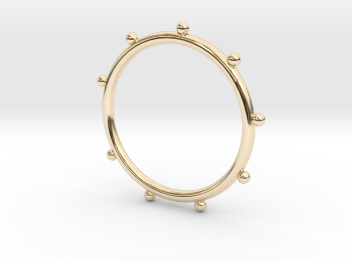 Ball Ring - Sz. 8 3d printed