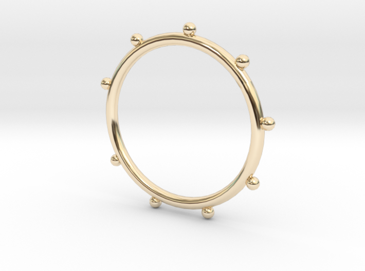 Ball Ring - Sz. 9 3d printed