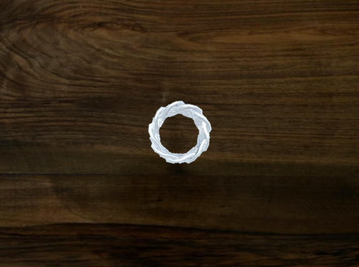 Turk's Head Knot Ring 9 Part X 9 Bight - Size 0 3d printed