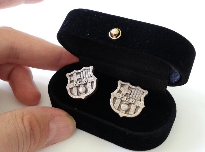 FC BARCELONA cufflinks (Steel) 3d printed