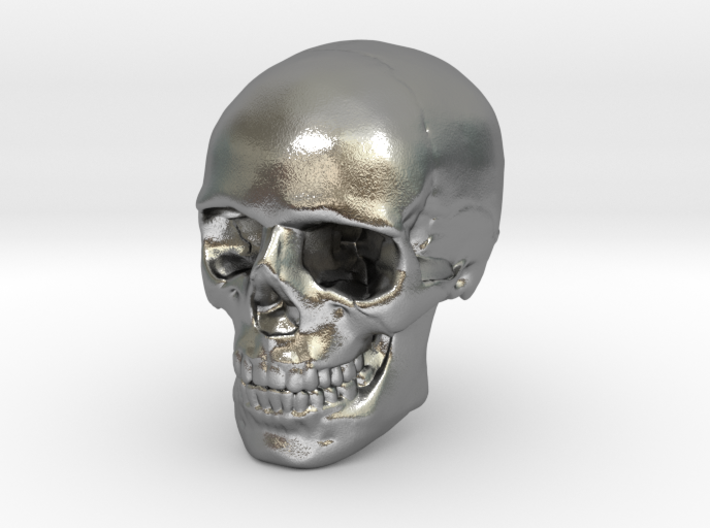 8mm 0.3in Human Skull for earring 3d printed