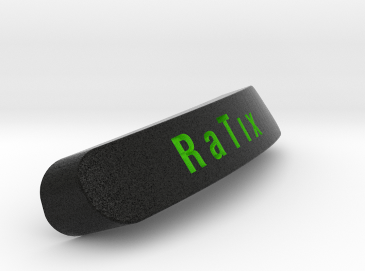 R A T ı X Nameplate for SteelSeries Rival 3d printed