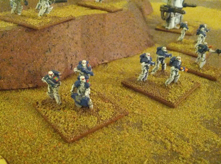 15mm Legionary Crusaders w/ Plasma Rifle (x10) 3d printed