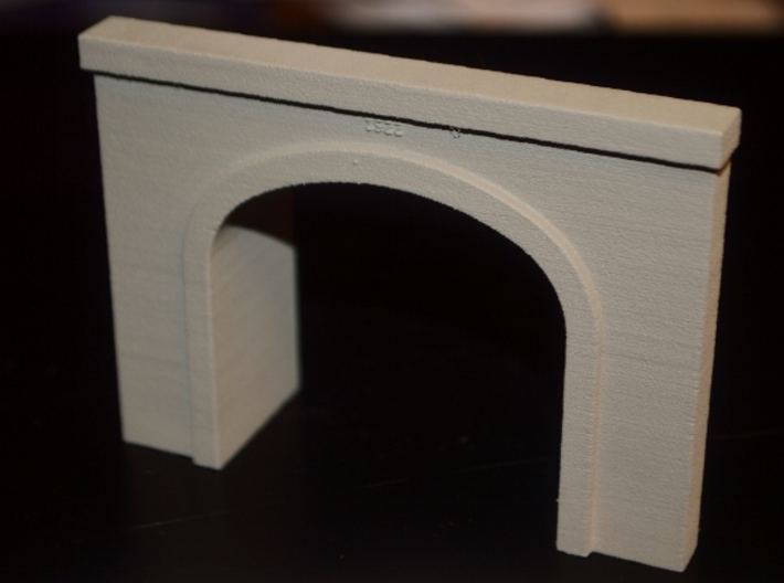 N-Scale UP Columbia River Portal 3d printed Production Photo - Painted