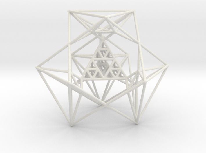 Sierpinski Tetrahedron and its Inversion 3d printed
