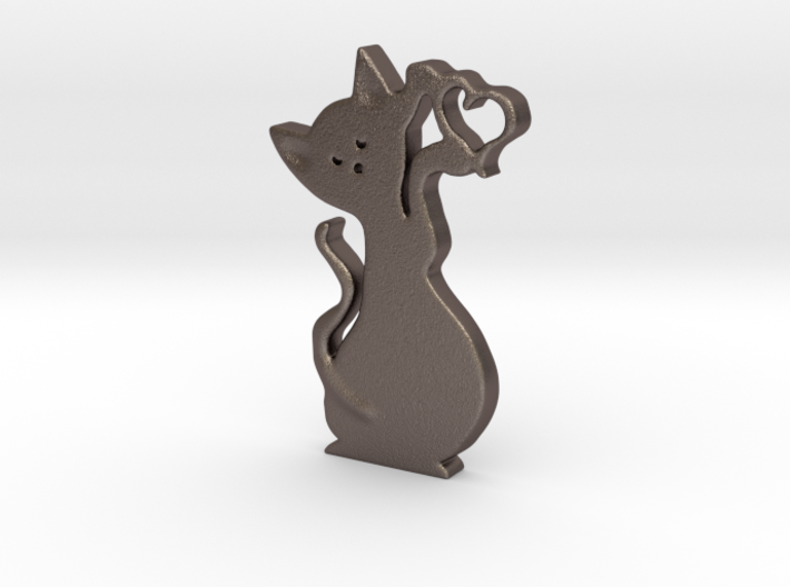 Gatto cuore 3cm 3d printed