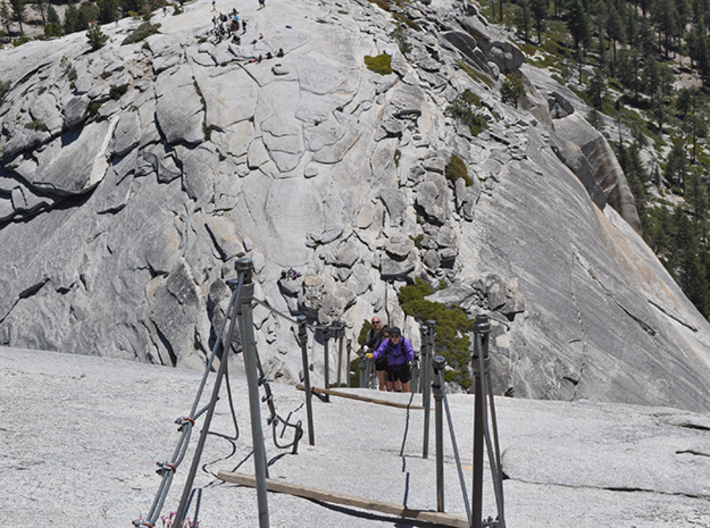 Full Color Half Dome Model 3d printed Looking down the infamous cableway