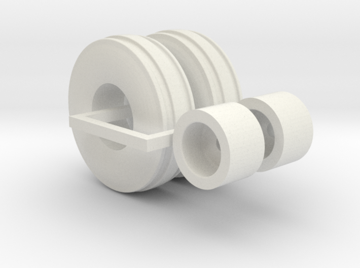 1:64 scale 11.00-16 3 Rib wheels and tires 3d printed
