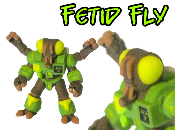 Fetid Fly (Colored Sandstone) 3d printed