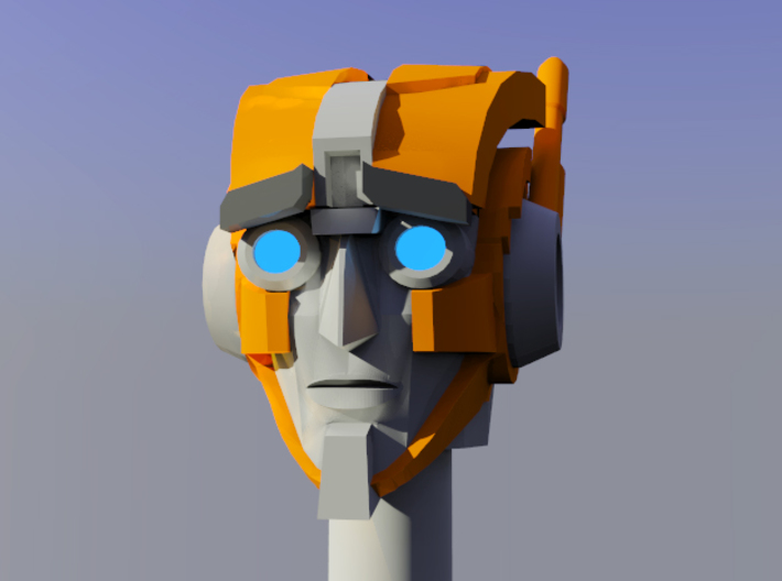 Smaller Rung Head (w. concerned eyebrows) 3d printed
