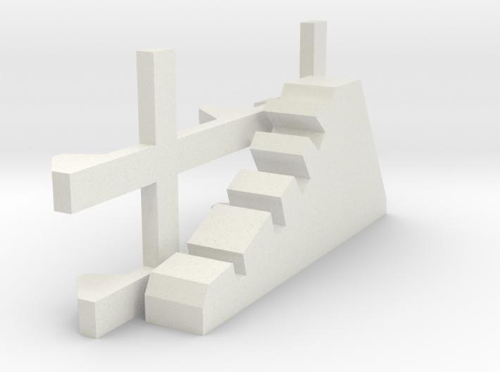 1-87 Scale Dragon Teeth Road Barrier (need 2) 3d printed