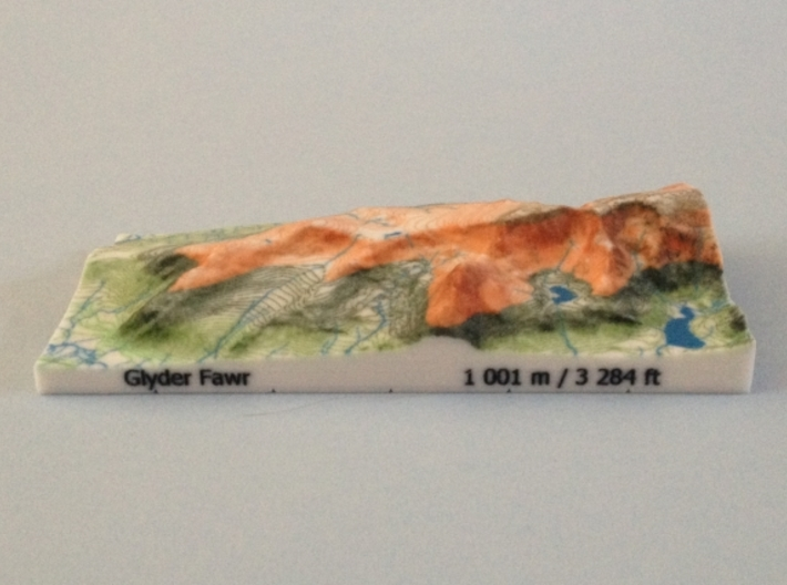 Glyder Fawr - Relief 3d printed Photo of Glyder Fawr - Relief